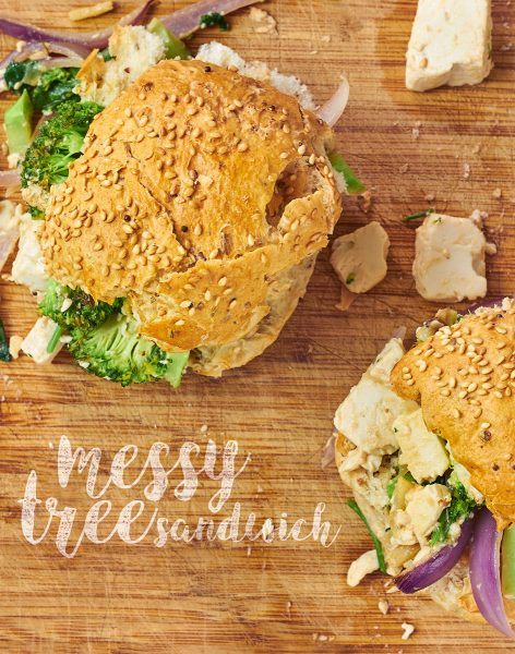 Messy Tree Sandwiches