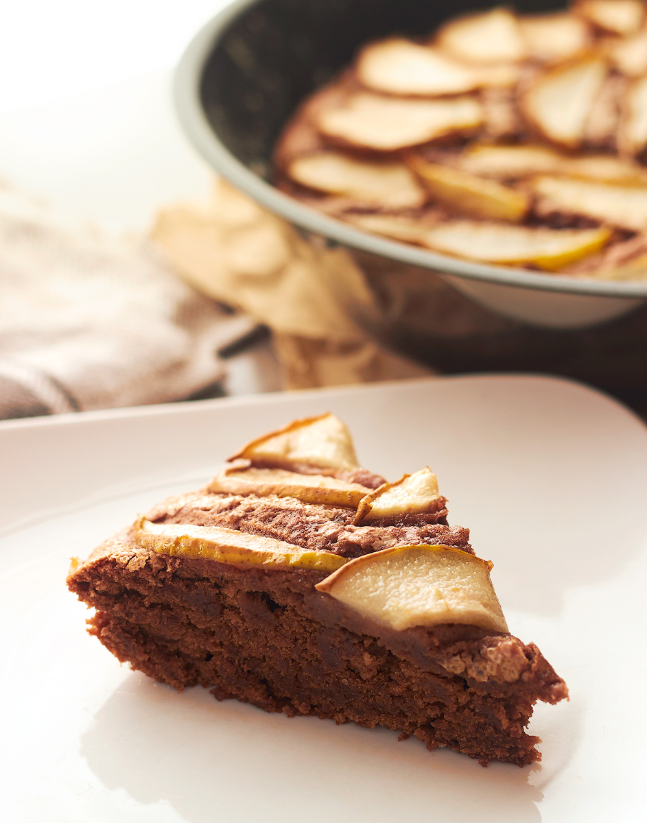 Pear & Chocolate Skillet Cake