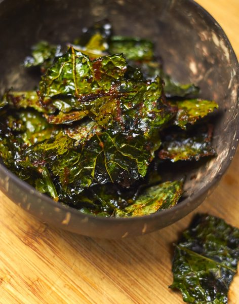 Smoky BBQ Kale and Basil Chips