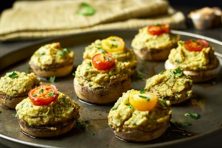Cashew and Herb Stuffed Mushrooms