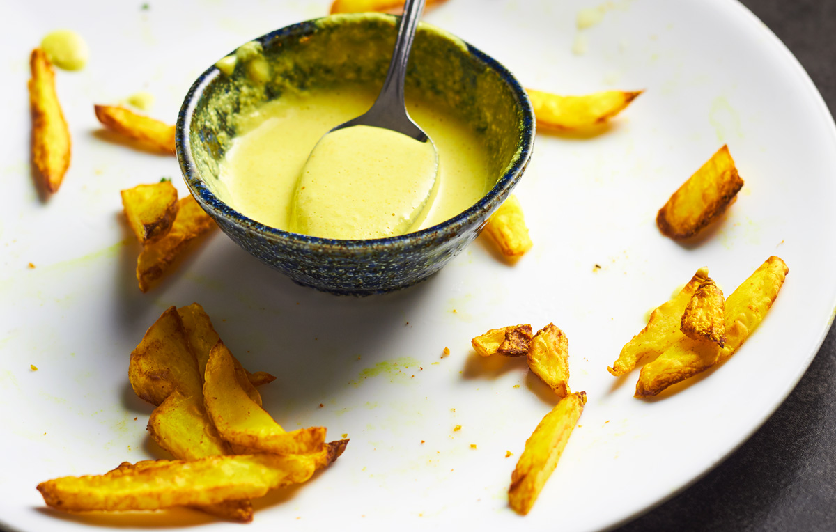 Turmeric Chips with a Turmeric Dipping Sauce
