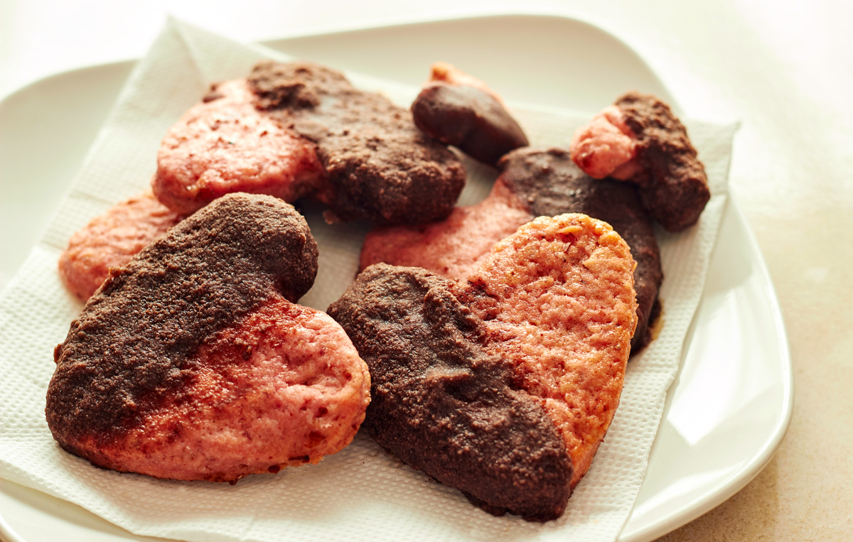 Lovey Dovey Heart Cookies