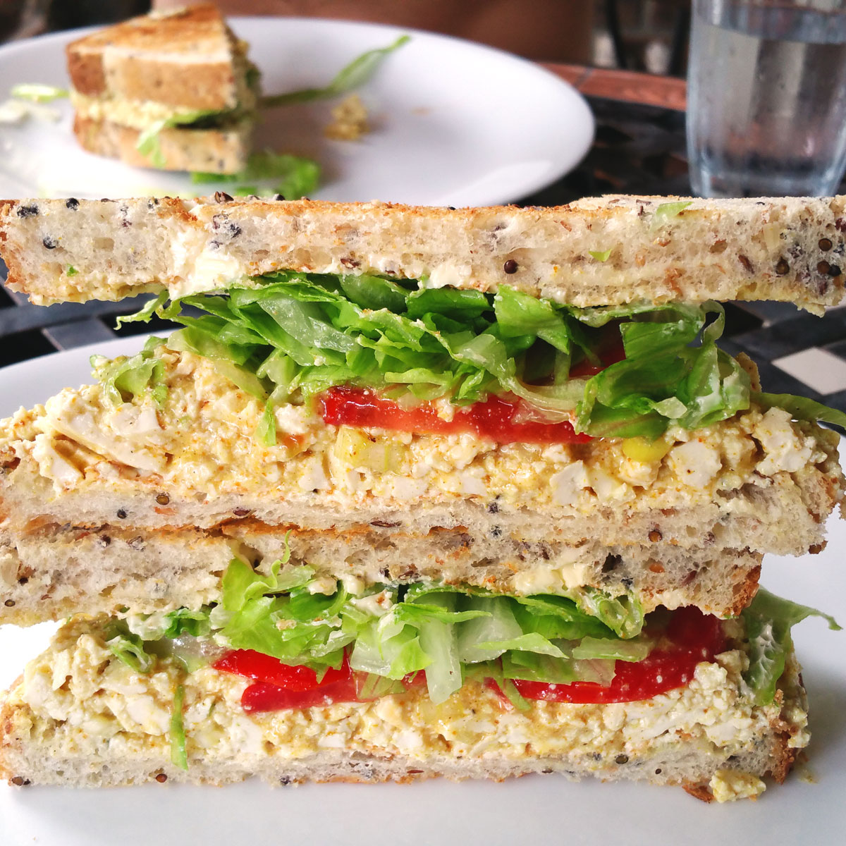 Vegan Curried Egg Sandwiches