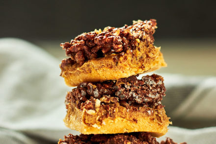 Chocolate Crackle Caramel Slice