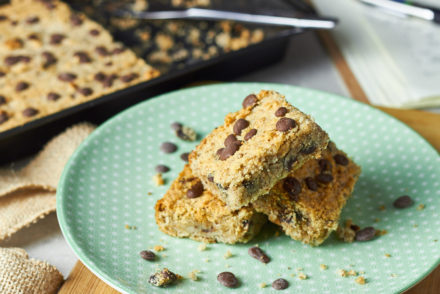 Hazelnut Choc Chip Blondies