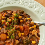 Chunky Vegetable Orca Bean Soup