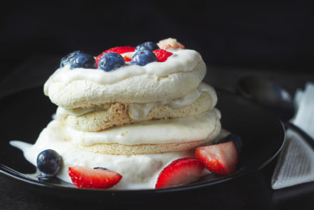 Meringue Stack with Banana Cream
