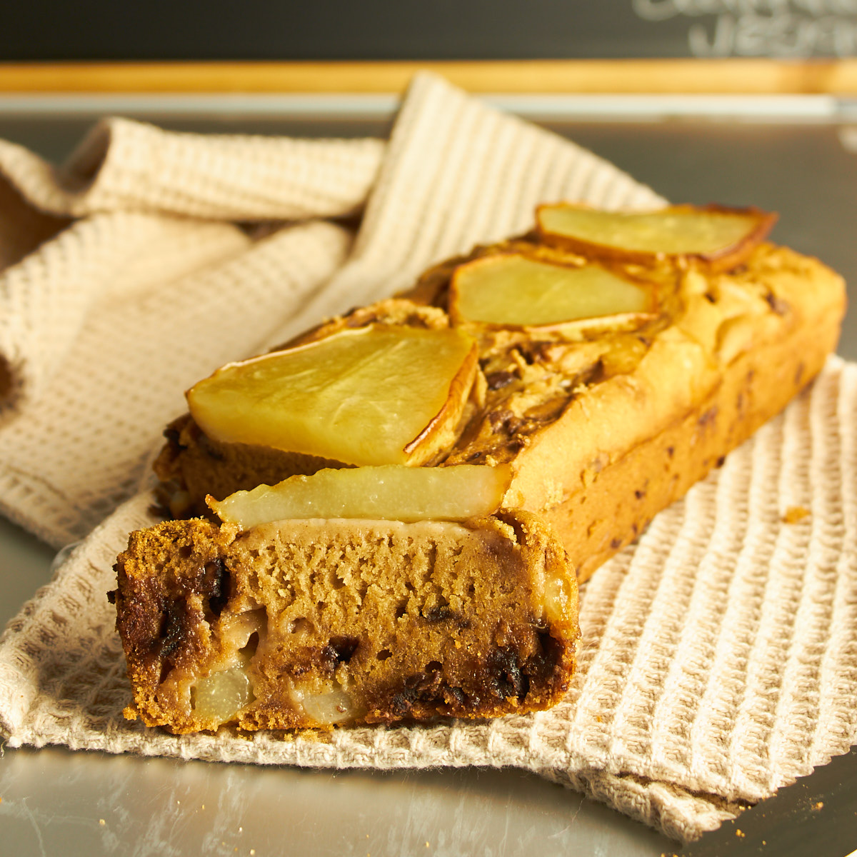 Gluten Free Pear and Choc Chip Loaf