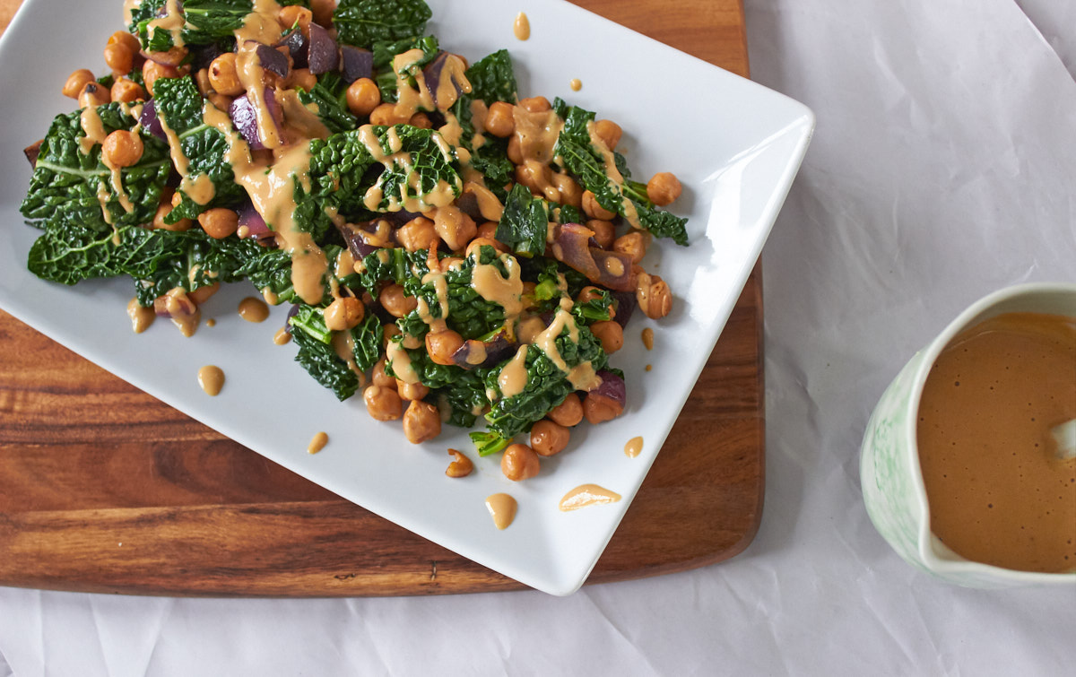 Bold Flavored Vegan Cooking Smoky Kale and Chickpeas