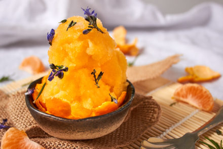 Mandarin and Rosemary Sorbet