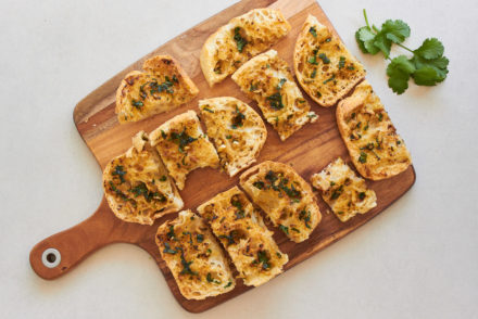 Asian Inspired Vegan Garlic Bread