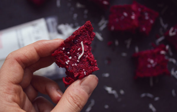 Healthy Beetroot Coconut Slice