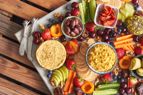 Vegan Cheese and Fruit Platter