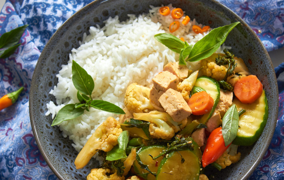 Thai Style Basil and Chili Stir Fry