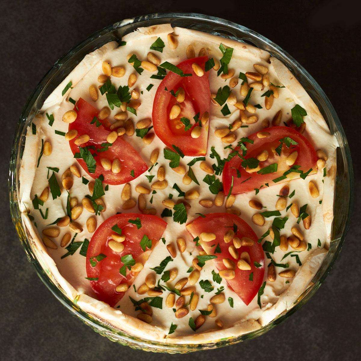 Vegan Layered Garden Salad - Delightful Vegans