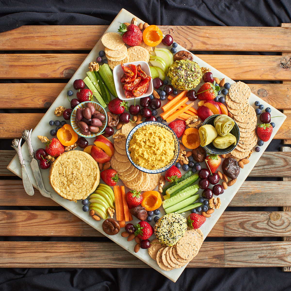 Vegan Cheese And Fruit Platter Delightful Vegans