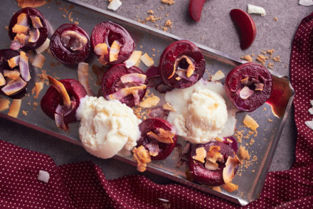 Easy Baked Plums with Grand Marnier