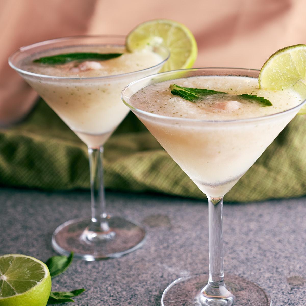 Lychee, Mint and Elderflower Mocktail