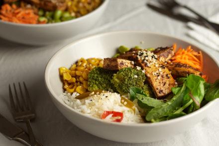 Smoky Tofu Buddha Bowl with Coconut Rice
