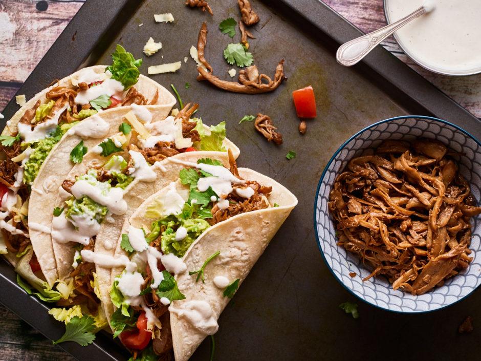 King Oyster Mushroom Tacos Delightful Vegans