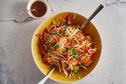 Vegan Green Papaya Salad