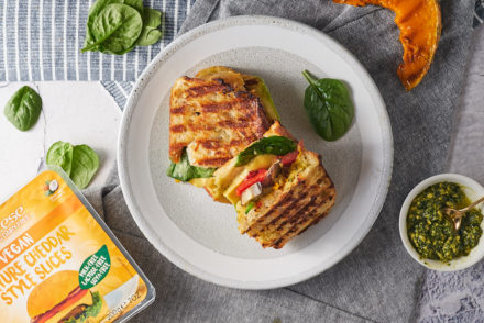 Grilled Vegetable Toasties with Sheese